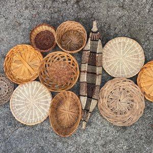 DIY Basket Statement Wall Art Set of 11 Natural